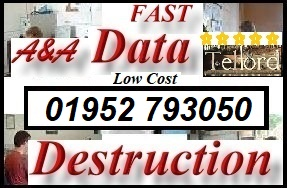 Telford data destruction, USB - hard disk drive destruction