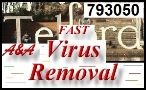 Best Telford Laptop Virus Removal and Telford PC Virus Removal